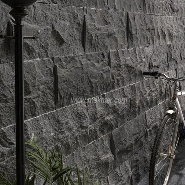Black Travertine Stone : Rustic split face travertine